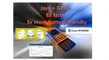 OpenCL + Java Acceleration on Mobile Promises 8x speedup with 3x Less Power