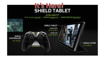 Pre-order Your NVIDIA Shield Tablet Now! (available July 29 in US)