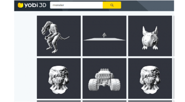 Yobi3D Finds 3D Meshes For Animations And 3D Printing