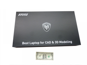 The product box for the MSI WS60