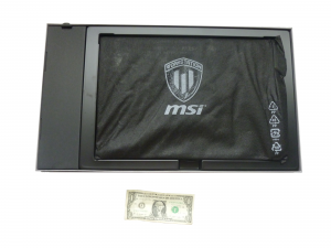 MSI packed in the product box