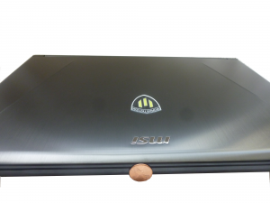 The MSI WS60 is about the thickness of a penny