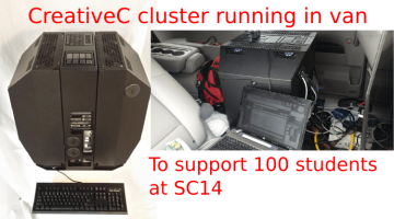 CreativeC GPU And Intel Xeon Phi Cluster For SC14 Class Runs Mobile In Van
