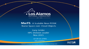 Gary Grider Talks MarFS – A Scalable Near-POSIX Name Space over Cloud Objects File System