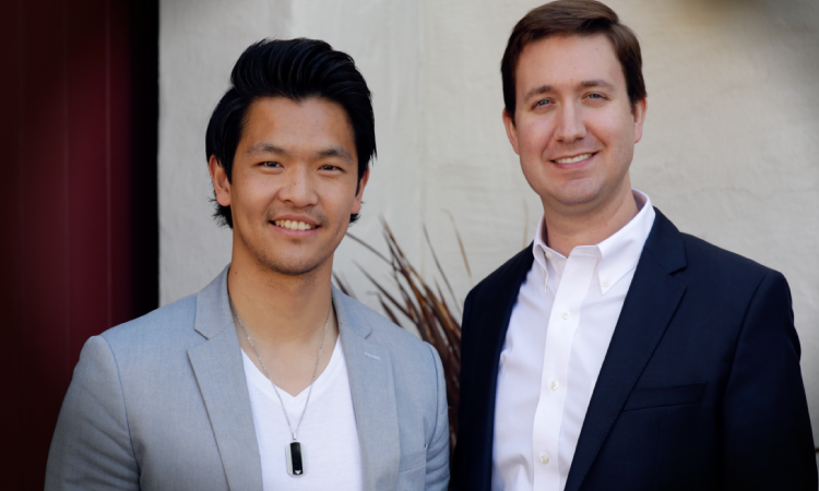 CEO Han Jin and CTO Adam Rowell,